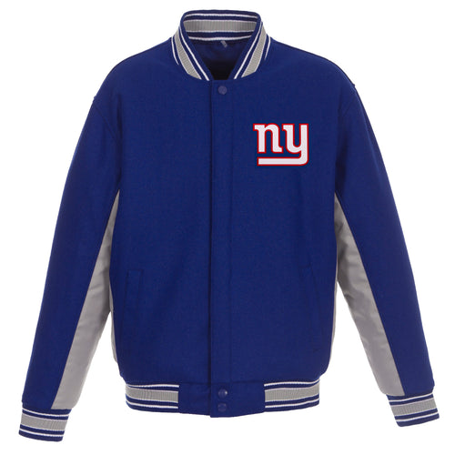 New York Giants Reversible Wool Jacket (Front and Back Logos)