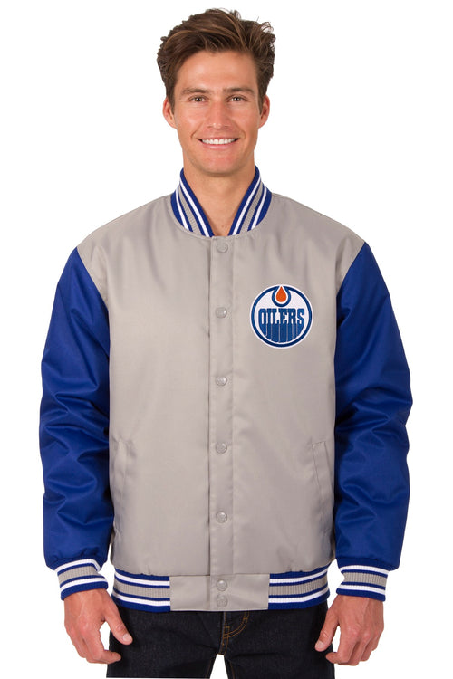 Edmonton Oilers Poly-Twill Jacket (Front Logo Only)