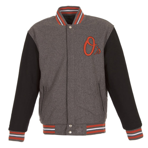 Baltimore Orioles Two-Tone Reversible Wool Jacket