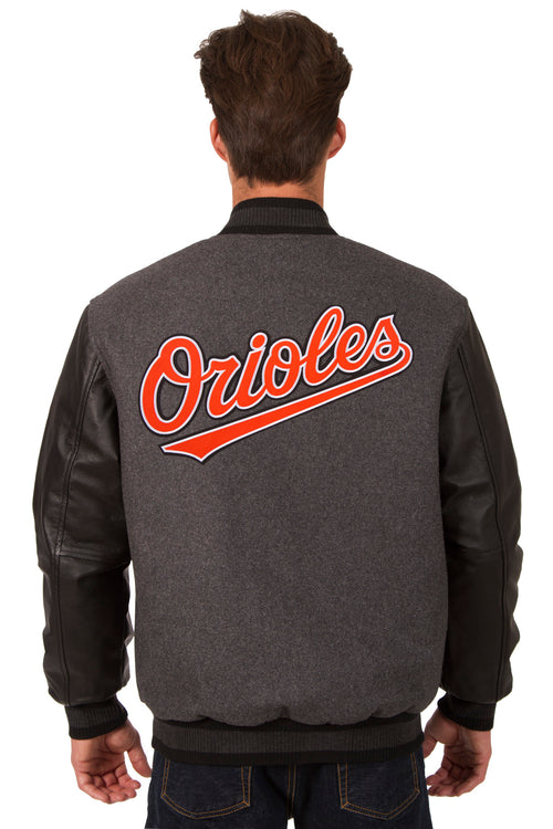 Baltimore Orioles Reversible Wool and Leather Jacket