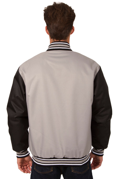 Poly-Twill Jacket in Gray-Black