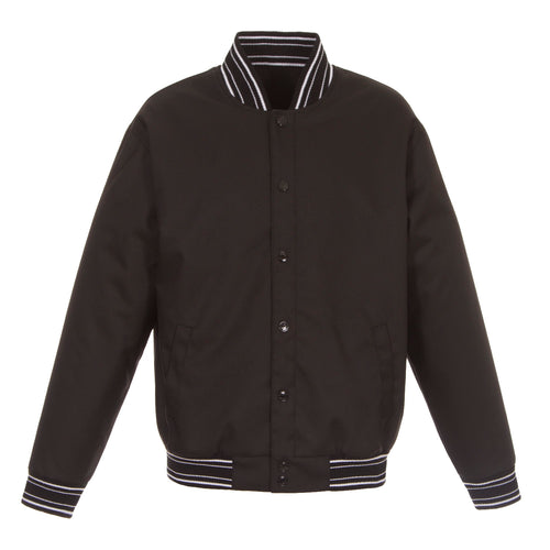 Poly-Twill Jacket in Black