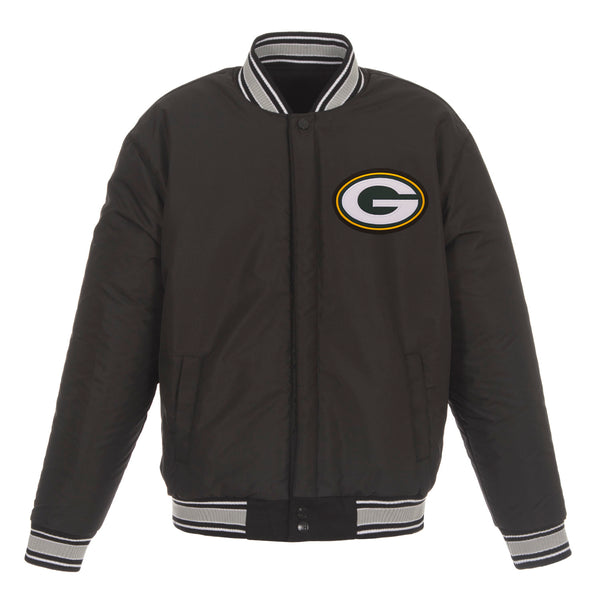 Green Bay Packers Reversible Wool Jacket (Front and Back Logos)