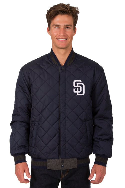 San Diego Padres Reversible Wool and Leather Jacket
