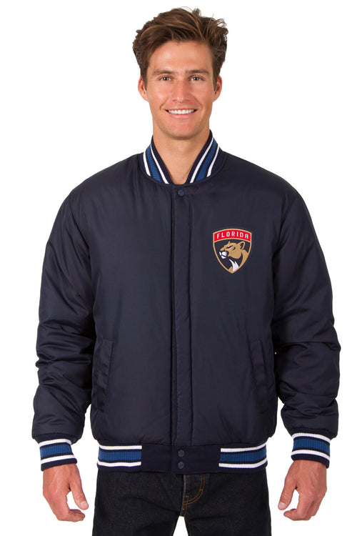 Florida Panthers All-Wool Reversible Jacket (Front Logos Only)