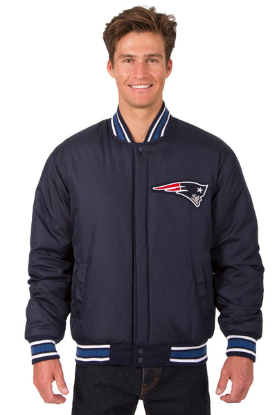 New England Patriots All-Wool Reversible Jacket (Front and Back Logos)