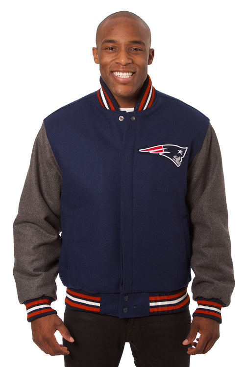 New England Patriots Embroidered Wool Jacket