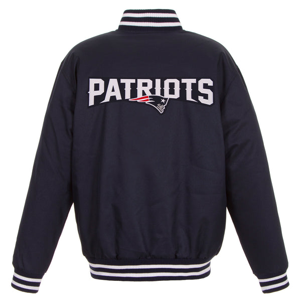New England Patriots Poly-Twill Jacket (Front and Back Logo)