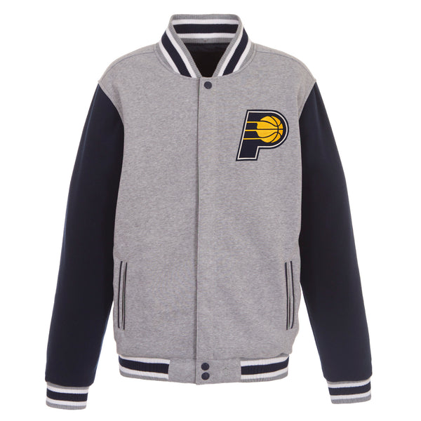 Indiana Pacers Reversible Fleece Jacket (Front Logos Only)