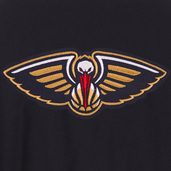 New Orleans Pelicans Reversible Wool Jacket Front Logos Only