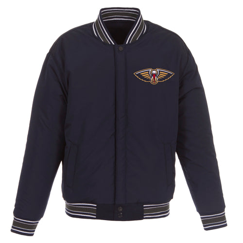 New Orleans Pelicans Reversible Wool Jacket (Front Logos Only)