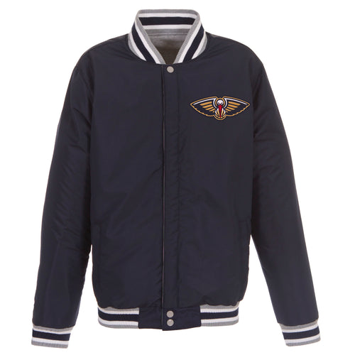 New Orleans Pelicans Reversible Fleece Jacket (Front Logos Only)
