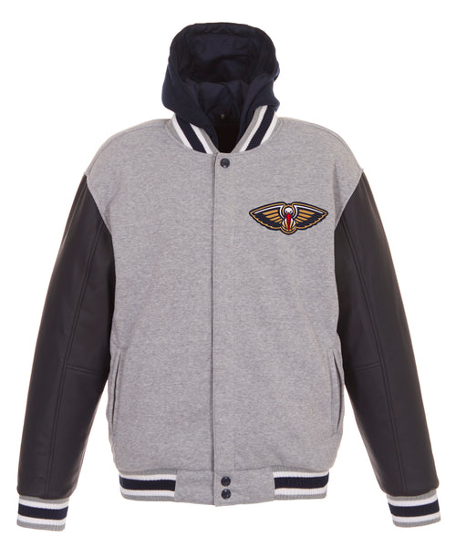 New Orleans Pelicans Reversible Fleece and Faux Leather Jacket