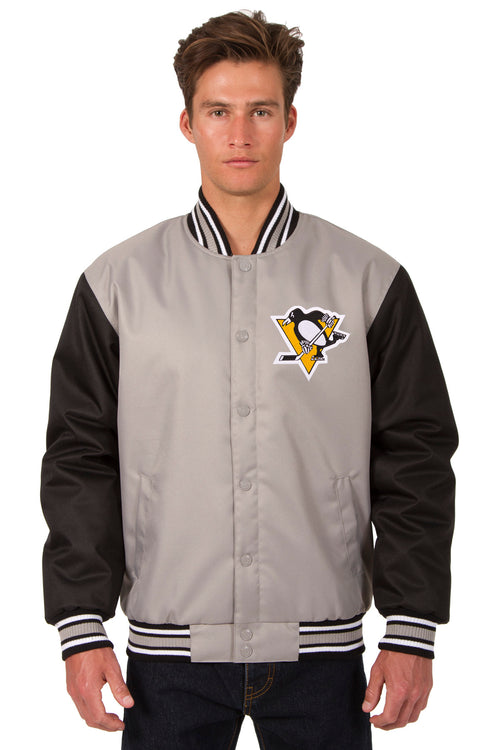 Pittsburgh Penguins Poly-Twill Jacket (Front and Back Logo)