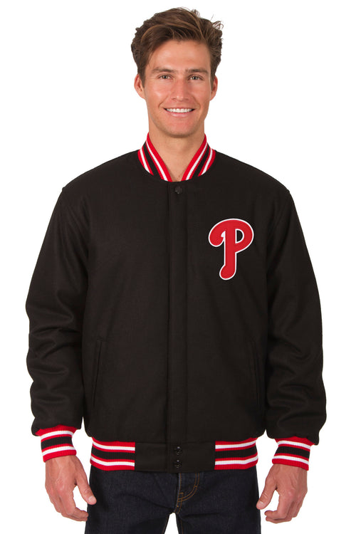 Philadelphia Phillies All-Wool Reversible Jacket (Front Logos Only)