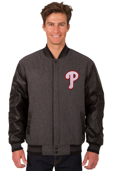 Philadelphia Phillies Reversible Wool and Leather Jacket