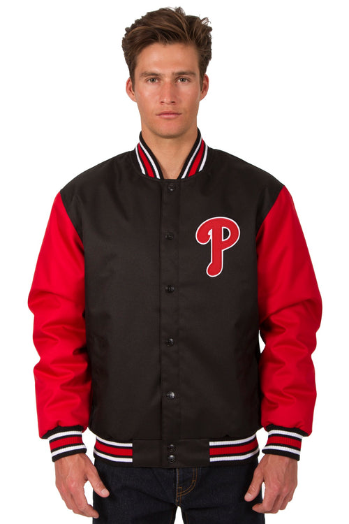 Philadelphia Phillies Poly-Twill Jacket (Front Logo Only)