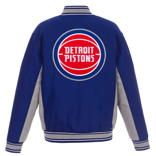 Detroits Pistons Reversible Wool Jacket (Front and Back Logos)