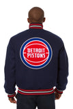 Detroit Pistons Embroidered Wool Jacket
