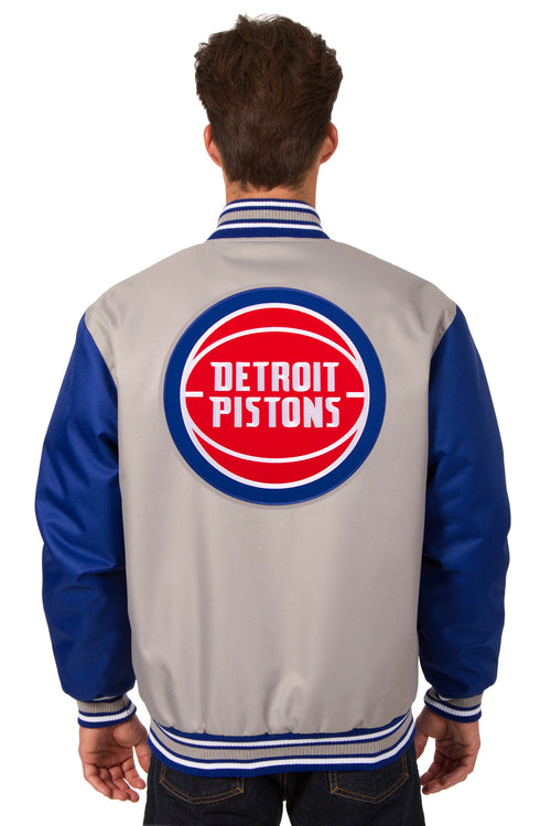 Detroit Pistons Poly-Twill Jacket (Front and Back Logo)