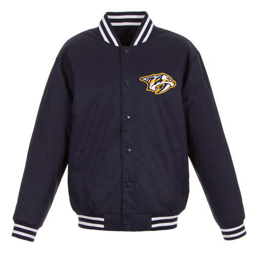 Nashville Predators Poly-Twill Jacket (Front Logo Only)