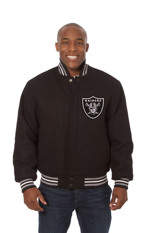 Oakland Raiders Embroidered Wool Jacket