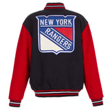 New York Rangers Reversible Wool Jacket