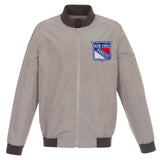 New York Rangers Nylon Bomber Jacket