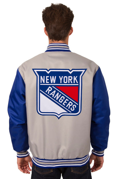 New York Rangers Poly-Twill Jacket (Front and Back Logo)