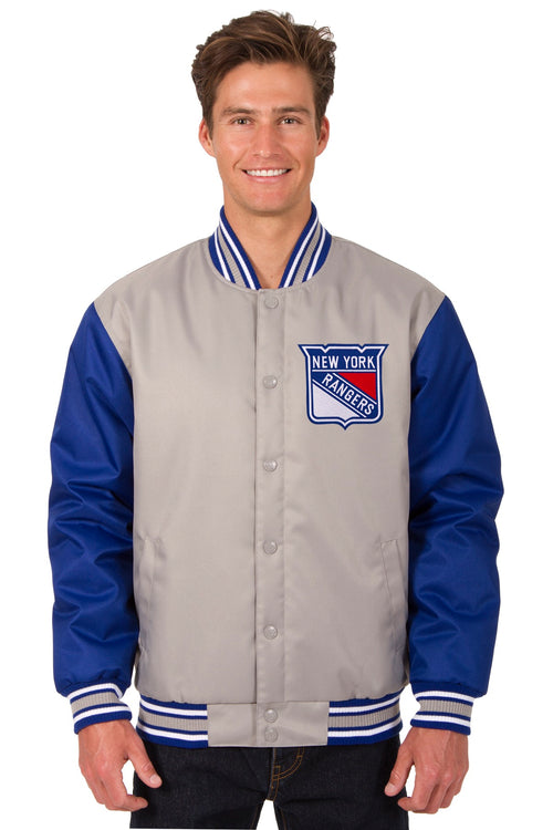 New York Rangers Poly-Twill Jacket (Front Logo Only)