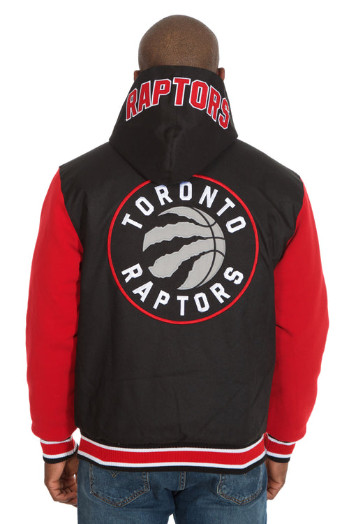 Toronto Raptors Reversible Poly-Twill Hooded Jacket