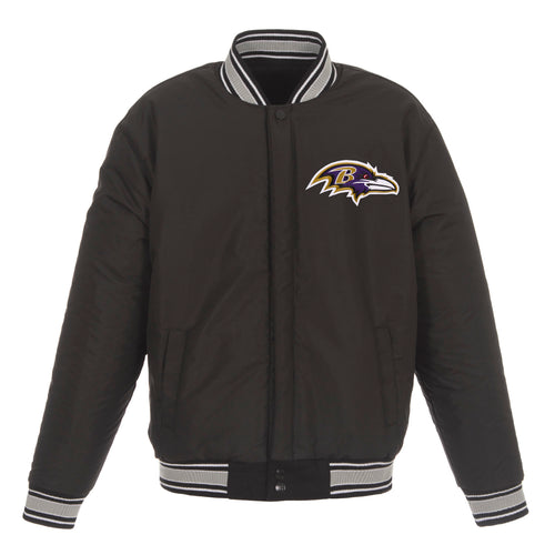 Baltimore Ravens Reversible Wool Jacket (Front Logos Only)
