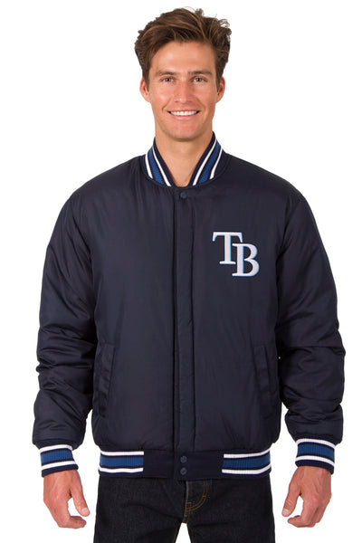 Tampa Bay Rays All-Wool Reversible Jacket (Front Logos Only)