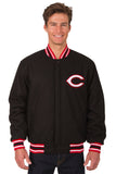 Cincinnati Reds All-Wool Reversible Jacket (Front Logos Only)