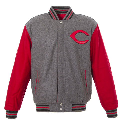 Cincinnati Reds Reversible Two-Tone Wool Jacket