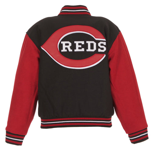Cincinnati Reds Kid's Reversible Wool Jacket