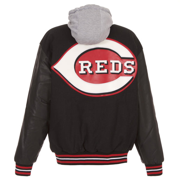 Cincinnati Reds Wool and Faux Leather Jacket