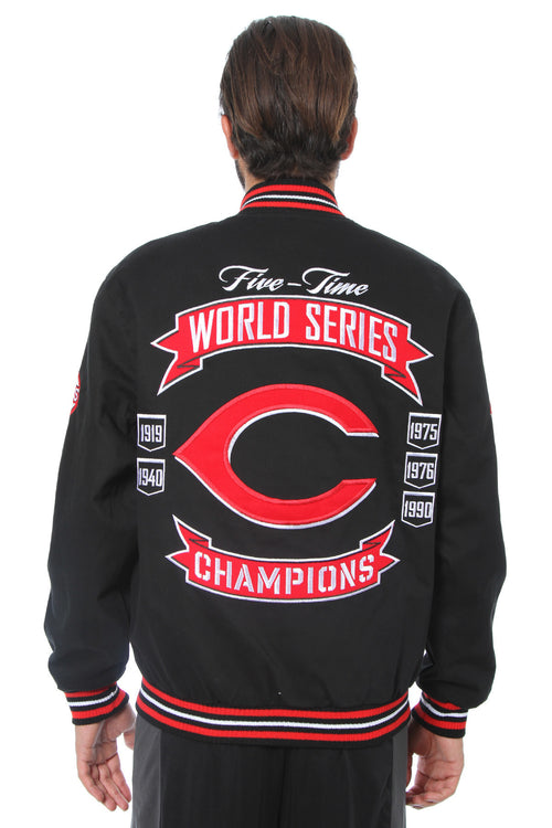Cincinnati Reds Reversible Zip-Up Twill Jacket