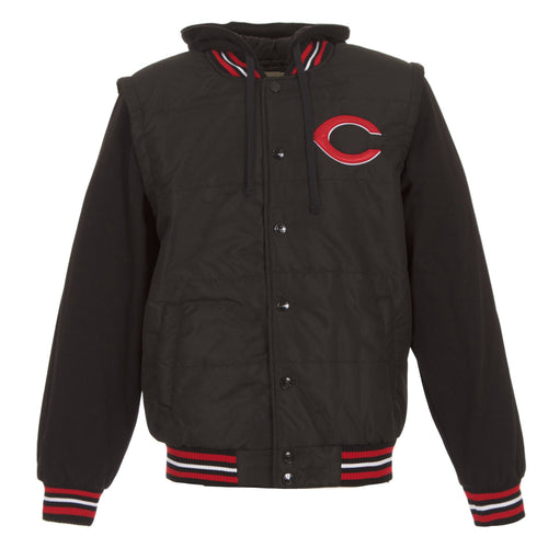 Cincinnati Reds Faux Leather-Nylon Vest