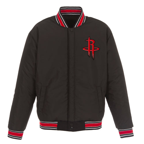 Houston Rockets Reversible Wool Jacket (Front Logos Only)