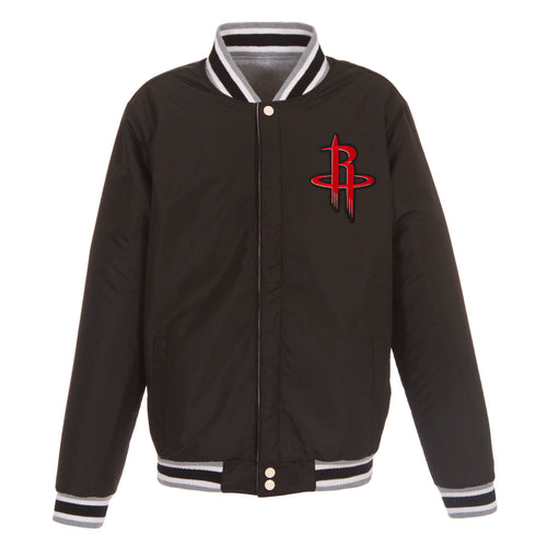 Houston Rockets Reversible Fleece Jacket (Front Logos Only)