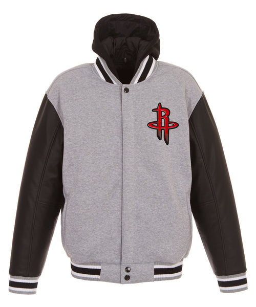Houston Rockets Reversible Fleece and Faux Leather Jacket