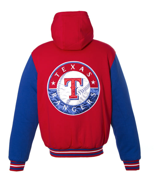 Texas Rangers Reversible Two-Tone Fleece Jacket