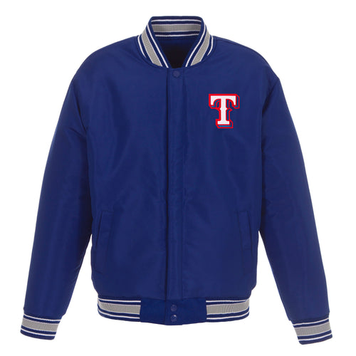 Texas Rangers Reversible Wool Jacket (Front Logos Only)
