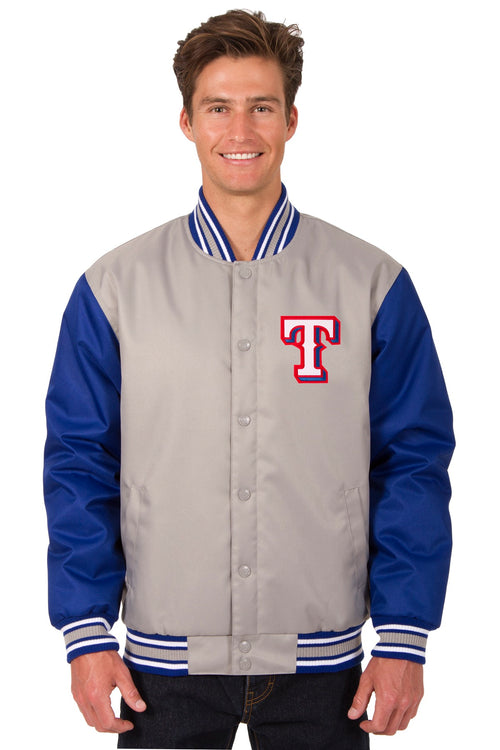 Texas Rangers Poly-Twill Jacket (Front Logo Only)
