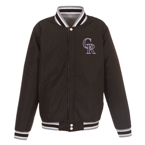 Colorado Rockies Reversible Fleece Jacket