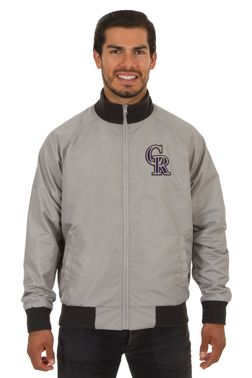 Colorado Rockies Reversible Polyester Track Jacket