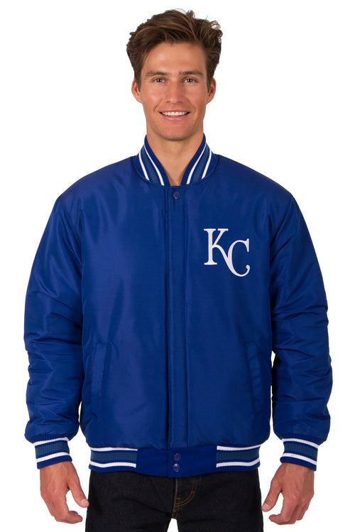 Kansas City Royals All-Wool Reversible Jacket (Front Logos Only)