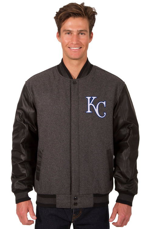 Kansas City Royals Reversible Wool and Leather Jacket