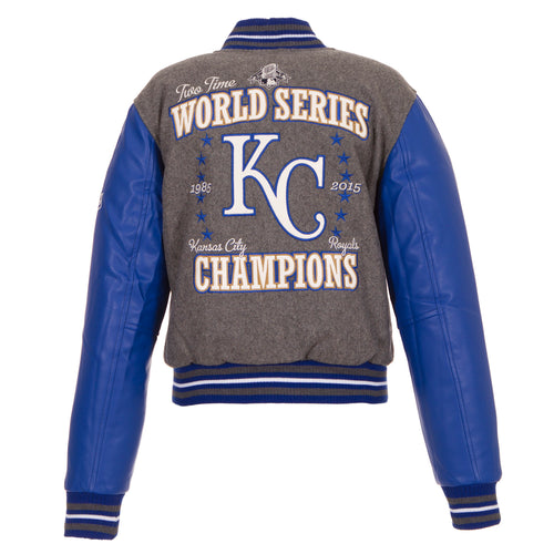 Kansas City Royals Ladies World Series Reversible Wool Jacket